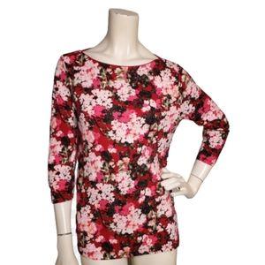Lands' End Women's Casual Floral Knit Top Size M